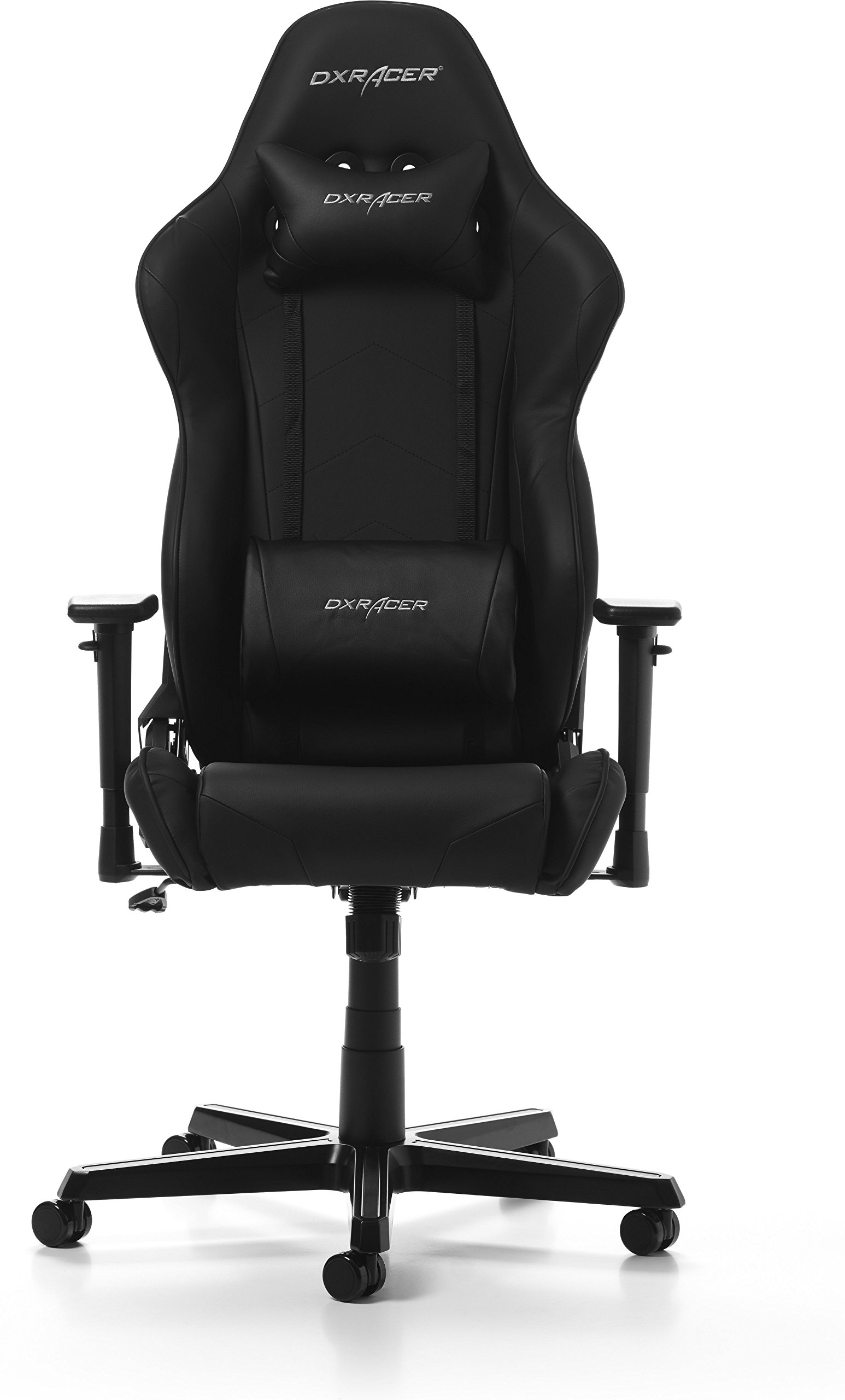 DXRacer Racing Oh/rz0/N Gaming Silla, Piel sintética, Color Negro, 67x 67x 132cm