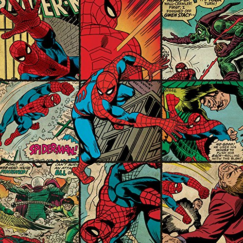 Marvel Comics Canvas de Cuadrados de Spider-Man
