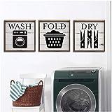 YIBINGLI Buanderie Vintage Affiche Rétro Gravures Art Photos Moderne Wash House Règles Toile Imprimable Peinture Décor À La M