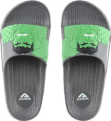 ADDA Marvel Hulk Durable & Comfortable | EVA Sole | Lightweight | Fashionable | Super Soft | Outdoor Slipper & Flip-Flops for Kids