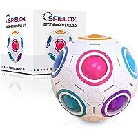 SPIELOX® Rainbow Ball – Concept amélioré 2020 I Jeu d'adresse pour adultes et enfants I Cadeau pour filles et garçons I…