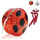 Hook Ladybug Yoyo para Disfraz Niña Lady Bug Cosplay Disfraces Fiesta de Carnaval Navidad Halloween, + 2X Pendientes con Clip