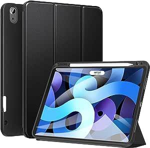 Ztotopcase Ipad Air 4 10 9 2020 Case Heavy Duty Shockproof Magnetic Case Multi Angle Pen Holder For Ipad Air 4 10 9 Inch 2020 Black Elektronik