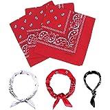 E-Senior Pañuelos Bandana, Pañuelos Rojo para Sanfermin, Unisex Bandanas de Paisley para Cuello/Cabeza/para las mujeres y los