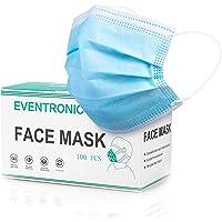 Eventronic Maschera di protezione 100 pezzi Maschera protettiva monouso a tre strati,Maschera di protezione Filtro…