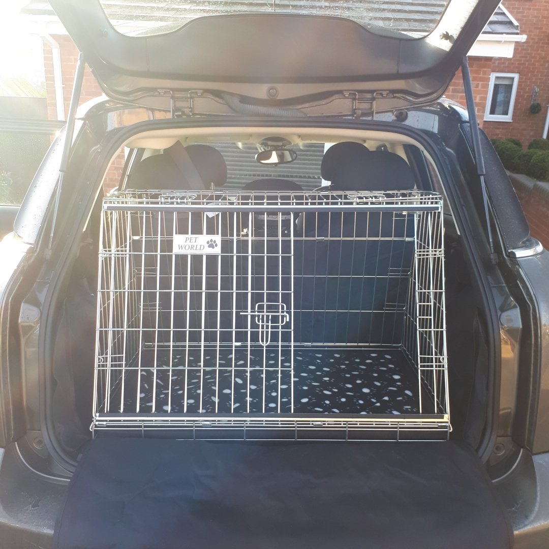 Arrow MINI COUNTRYMAN CAR DOG CAGE SLOPED FRONT GUARD PUPPY CRATE CARRIER