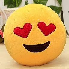 Triad basics Heart Eyes Smiley Emoticon Cushion Pillow Soft toy (35cm, Love, Plush)