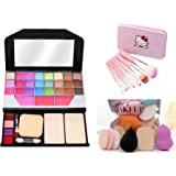 MY TYA Fashion Makeup Kit for Girls + Premium Makeup Brushes + Insta Beauty Makeup Sponges (Pink Brush + 6155)
