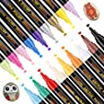 Stylos à Peinture Acrylique,YITHINC 18 CouleursMarqueurs pour Faire de la Peinture sur de la Roche,de la Céramique,de la Por