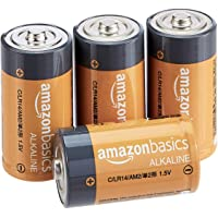 AmazonBasics Piles alcalines C 1,5 V pour le quotidien - Lot de 4 (le visuel peut différer)