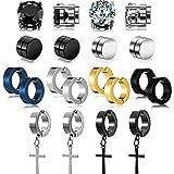 10 Paia Orecchini Magnetici Orecchini Magnetici in Acciaio, Orecchini a Cerchio Senza Piercing Clip Unisex di Calibri su Orec