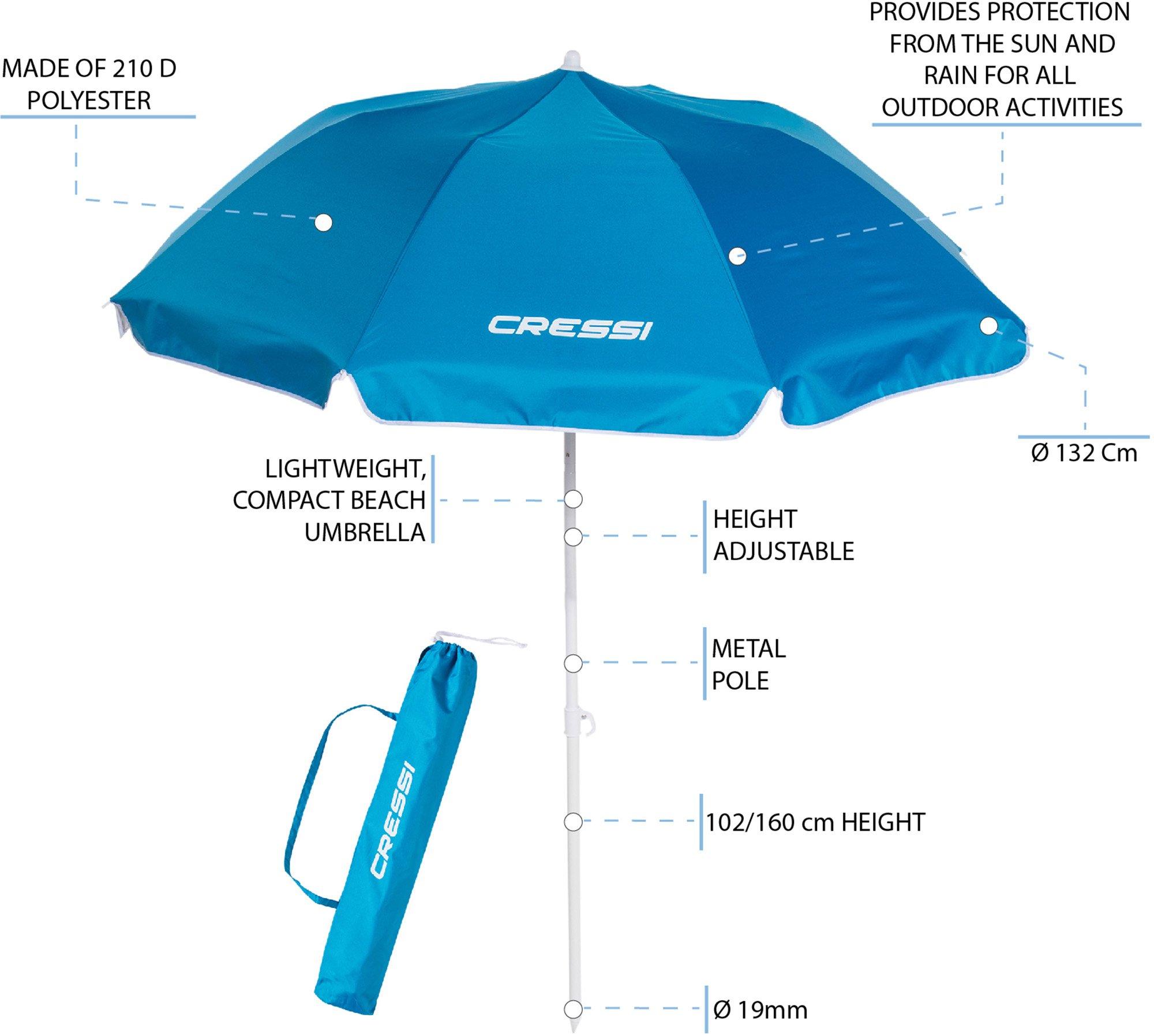 Cressi Premium Beach Umbrella Portable with Folding 3
