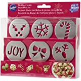 Wilton Holiday Cookie Press Disc Set 6/pkg-Christmas