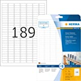 HERMA 10900 Power etiketten DIN A4 klein (25,4 x 10 mm, 25 vellen, papier, mat) zelfklevend, bedrukbaar, extreem sterk hechte
