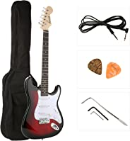 JUAREZ Electric Guitar Kit, Right Handed RDS with Case/Bag and Picks (Red Sunburst)