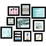 Art Street I SEA You Individual Aqua Theme Gallery Wall Quotes Framed Wall Poster Set of 10 - Aqua #wallessential