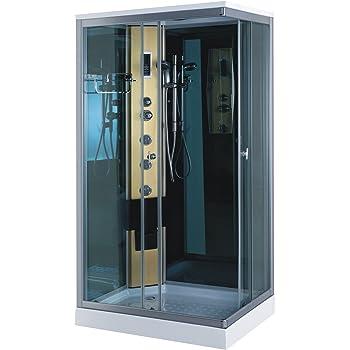 Cabine de Douche hydromassante Modele Portofino 100 x 70 cm SPA Bain ...