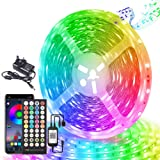 LED Strip Lights 15M,24V Music Sync Color Changing LED Strip with Remote and App Control,RGB LED Lights for Bedroom, Kitchen,