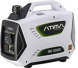 Atima SD1000i Tragbarer Inverter Benzin Stromgenerator Stromerzeuger Lauf.900W/Max.1000W