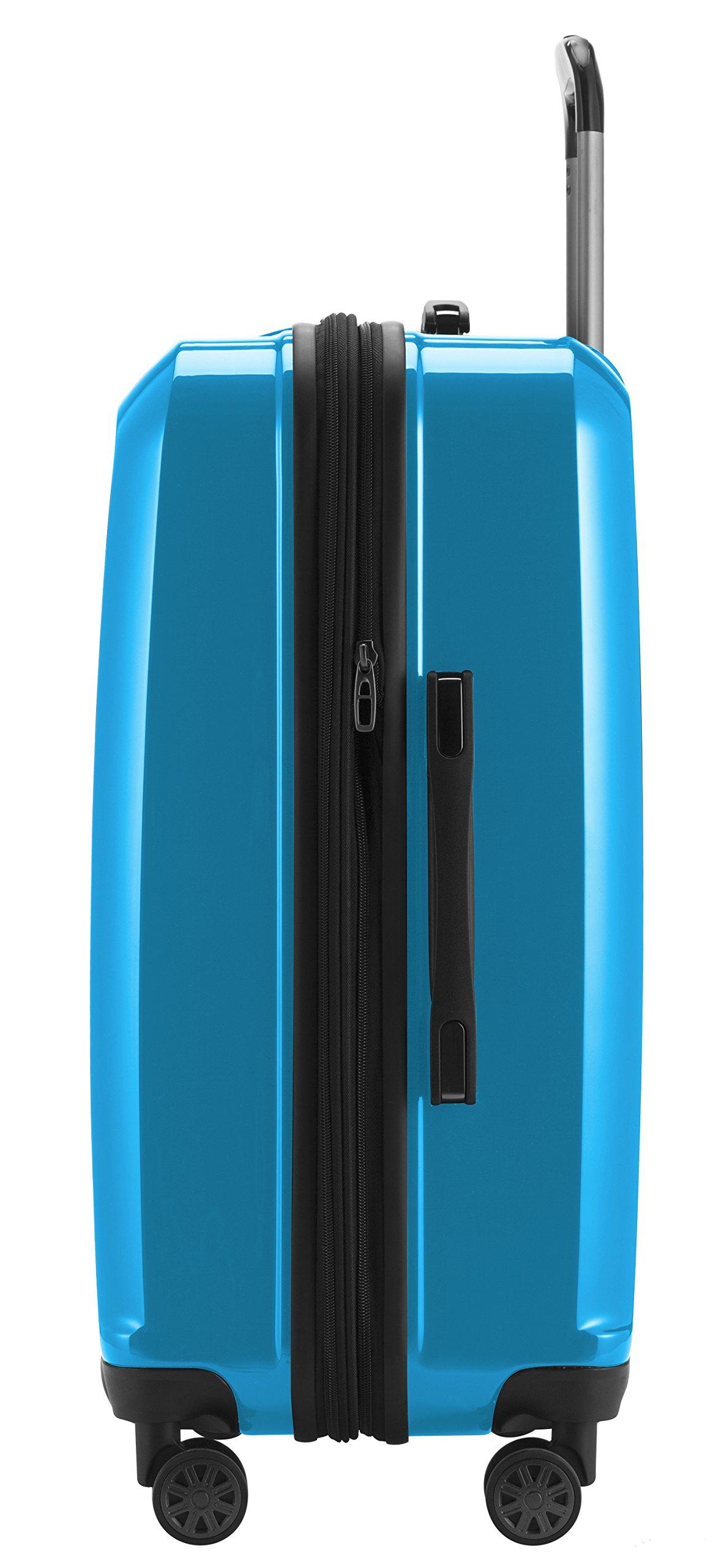 CAPITAL DE CASO – X Mountain – equipaje de mano del equipaje de mano Maleta Spinner Hardside Trolley de 4 ruedas a bordo, TSA, 65 cm, 90 litros, Cyanblue brillante