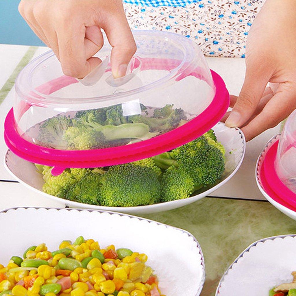 jiamins microondas horno placa antiadherente plástico polvo mesa clara plato tapa