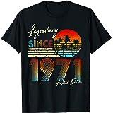 Homme Nées En 1971 Cadeau Anniversaire Vintage 50 Ans T-Shirt
