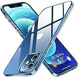 Humixx Kristallklart mobiltelefonfodral kompatibelt med iPhone 12 | iPhone 12 Pro fodral [13 x anti-gul] [Real 5.0 skydd enli