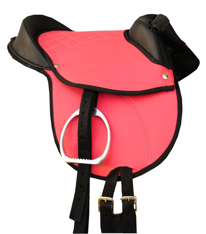 Amesbichler AMKA Ponysattel Shettysattel Ponyreitkissen Reitkissen mit Zubehör passend komplettes Set pink, 12″ | Pony Reitpad auch für Holzpferde geeignetes Sattelset | Cub Saddle Set