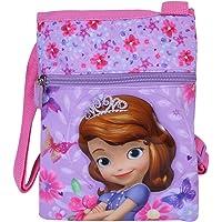 Umhängetasche für Mädchen mit Sofia die Erste - Kleine Flacher Umhänge für Kinder - Violett Tasche für Reisen und…
