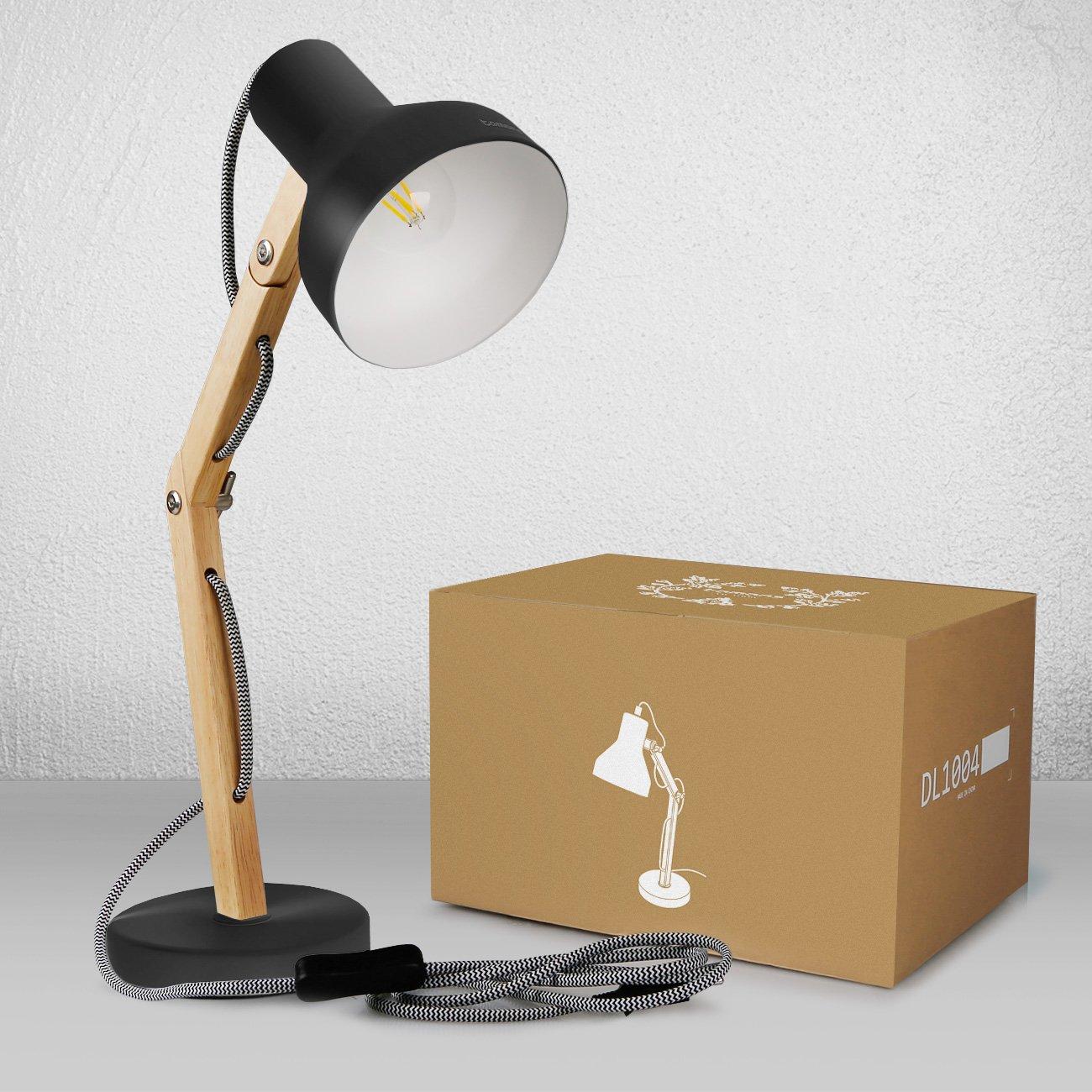 Tomons Schreibtischlampe Mit Schwenkbaren Holzarmen Designer