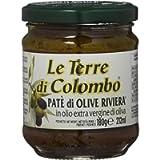 Le Terre di Colombo - Patè di olive Riviera - in Olio Extravergine di Oliva (10%) - Confezione da 6 x212 ml