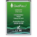 GadFull Akku kompatible mit Samsung Galaxy S4 Mini | 2018 Baujahr | Entspricht dem original B500BE | Kompatible mit Galaxy S4 Mini i9190 | S4 Mini Dual SIM i9192 | S4 Mini LTE i9195
