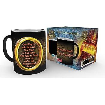 One Ring empireposter Lord of The Rings Gr/ö/ße /Ø8,5 H9,5cm Thermoeffekt Tasse
