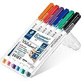 STAEDTLER 301 WP6 Whiteboard pennen, verschillende kleuren, Pack van 6