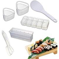 Moule à Sushi - 6 Pièces Moule à Onigiri Transparent Pratique Sushi Maker Kit- Surface Antiadhésive Facile Nettoyer…
