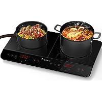 Aobosi plaque de cuisson, table de cuisson à induction double portable, commande par capteur et plateau en verre cristal…
