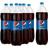 زجاجة بلاستيك من بيبسي، سعة 2.25 لتر، × 6