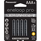 Panasonic Eneloop Pro Aaa New High Capacity Ni-mh Pre-charged Rechargeable Batteries 4 Pack- Pep2