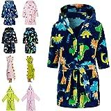 Lodunsyr Albornoces Niña Niño Pijamas y Batas Infantil Textiles de Baño Muchacha Albornoz con Capucha Batas Regalos Suave Rop