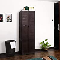 Cello Novelty Large Plastic Cupboard with lock(Ice Brown)