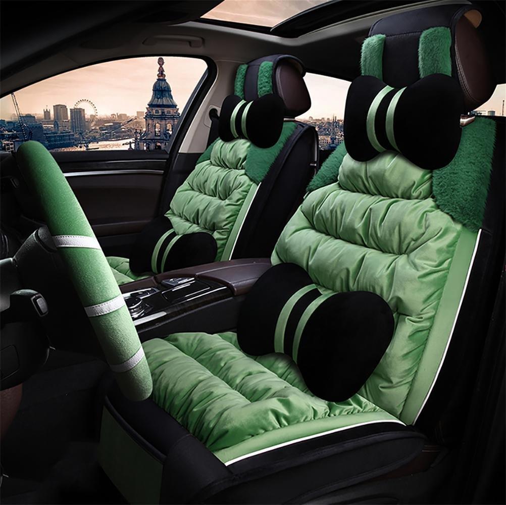 RUIRUI Set completo universale Copertura del sedile auto coperta Coprisedili , Green