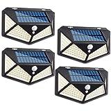 Gluckluz Solar Light Outdoor Motion Sensor Waterproof Lighting 114 LED Garden Security Lights for Wall Step Porch Patio Yard