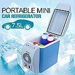 Abtrix Mini Refrigerator Portable Fridge 12V 6L Auto Mini Car Travel Fridge ABS Multi-Function Home Cooler Freezer Warmer...