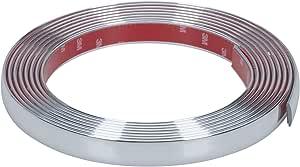 Hr Imotion Selbstklebende Chrom Zierleiste 500cm X 21mm 3m Material Zuschneidbar Witterungsbeständig Hochflexibel 12010501 Auto