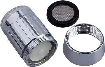 SODIAL(TM) Rubinetto luce temperatura di 3 colori con sensori di luce e temperatura