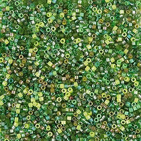MIYUKI perles graines Delica taille 11/0mélange Evergreen 7,2g
