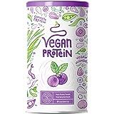 Proteine Vegane | MIRTILLO | Proteine vegetali di riso e piselli germogliati, semi di lino, amaranto, semi di girasole, semi
