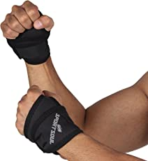 SportSoul Wrist Support with Thumb Wrap - Pack of 2 (Free Size)