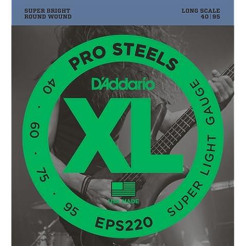D'Addario EPS220 Set Corde Basso Prosteel