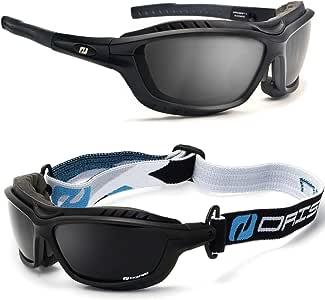 Daisan Alpin Gletscherbrille Sportbrille mit Band (schwarz
